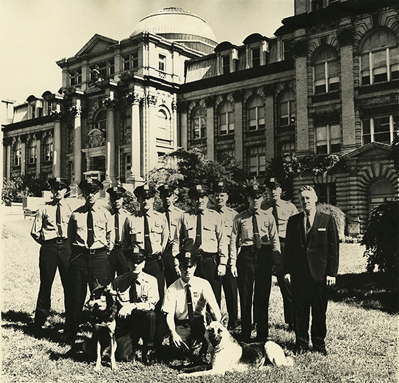 NYBG Guards in front of the Library Building