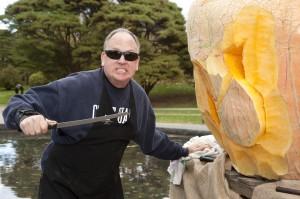 Scott Cully, master pumpkin carver