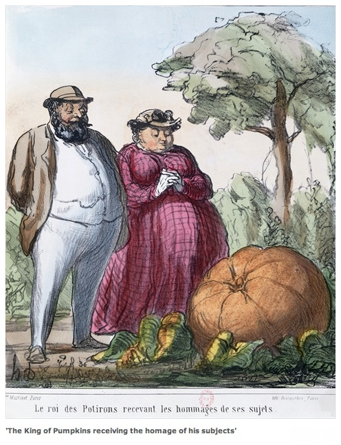 Daumier, The King of Pumpkins Receiving the Homage of His Subjects