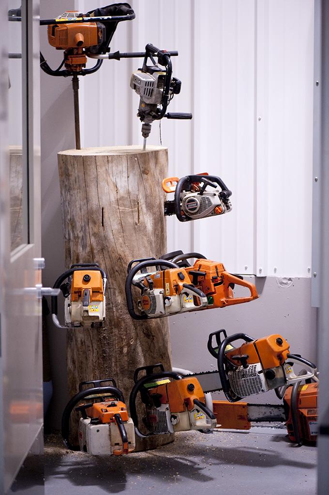 Chainsaw Storage