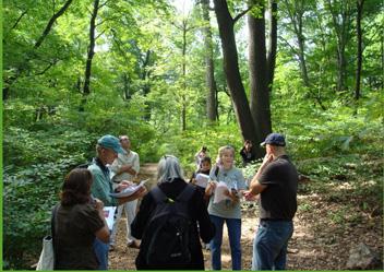 Citizen Scientist Tree Phenology Program Field Training Along the Spicebush Trail - Photo by Krystina Holak