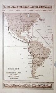 A pre-war Grace Line route map.