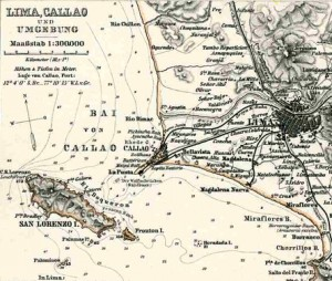 A German map of Callao near the turn of the 20th century.