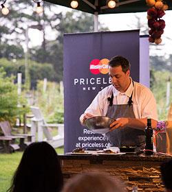 Mario Batali Cooking Demonstration Edible Garden Priceless NY
