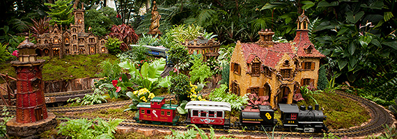 Bon Holiday Train Show New York Botanical Garden