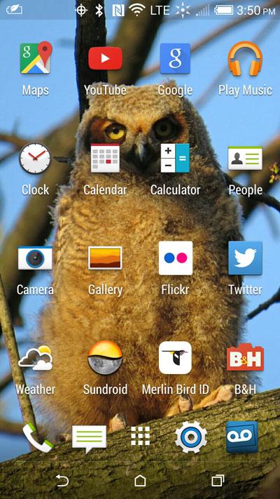 Android apps homescreen desktop