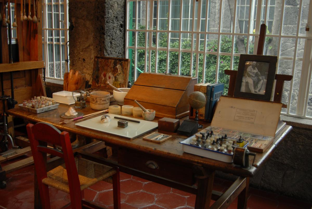 Frida Kahlo's studio Coyoacan Mexico City Casa Azul