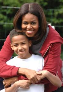 Michelle Obama and Nare Kande