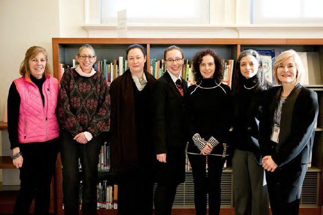 Speakers and hosts: Susan Fraser (Director Mertz Library), Arlene Shaner, Lisa O'Sullivan, Lucy Barnhouse, Ina Vandebroek, Jodi Moise, and Vanessa Sellers (Coordinator, Humanities Institute)