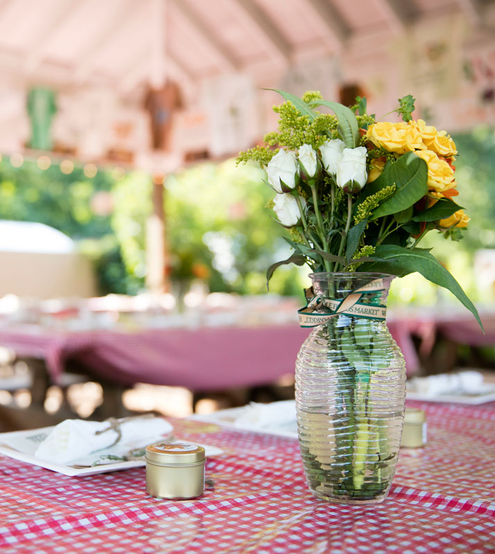 Family Dinners with Mario Batali's Chefsnin the Ruth Rea Howell Family Garden at NYBG