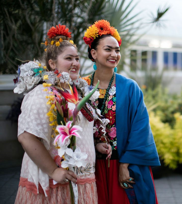 Frida Look Alike contest FRIDA KAHLO al fresco LGBT Night