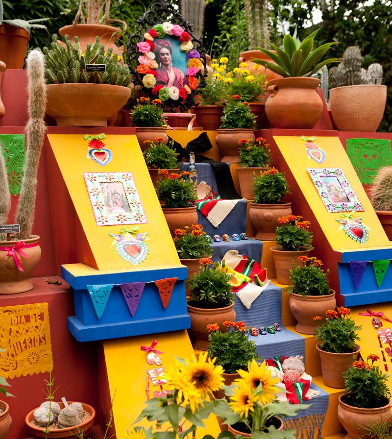 Dia de los Muertos ofrenda altar Frida Kahlo Enid A. Haupt Conservatory