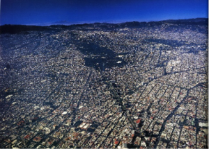 Aerial view of Mexico City, photo courtesy of Dr. Kathryn O'Rourke, Trinity University.