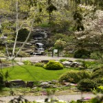 The Rock Garden's historic cascade