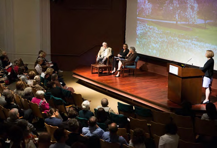 A spirited conversation with the audience in the Ross Lecture Hall