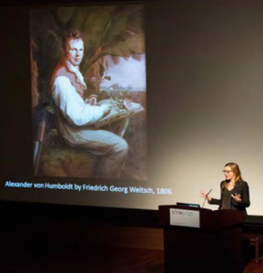 Andrea Wulf explaining the impact of Humboldt's life and work