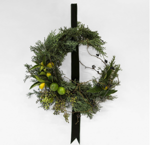 Thompson Crescent Wreath Sapphire Juniper