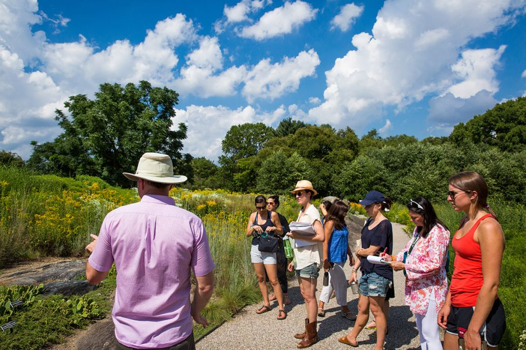 Photo of Intensives students in the Native Plant Garden