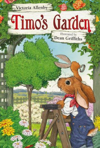 "The cover of ""Timo's Garden."""
