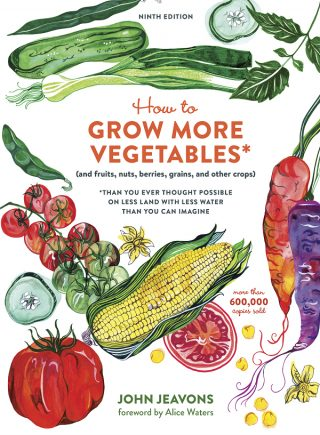"The cover of ""How to Grow More Vegetables."""