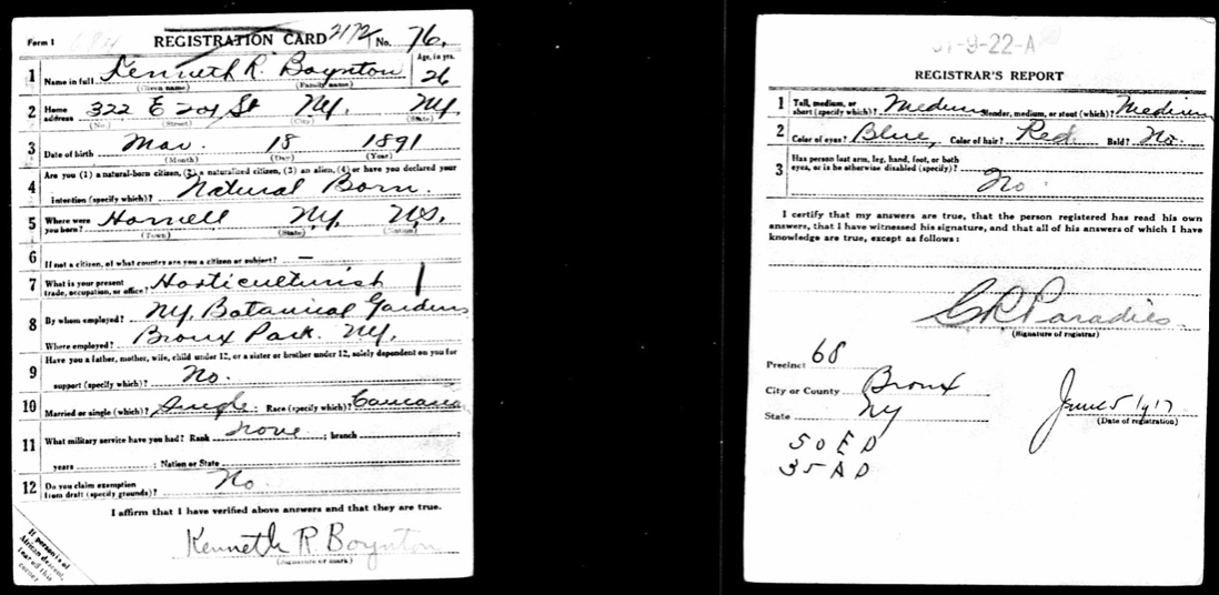 Photo of a draft notice