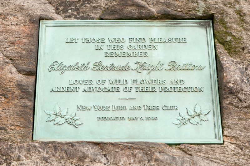 Photo of a plaque commemorating Elizabeth Gertrude Knight Britton