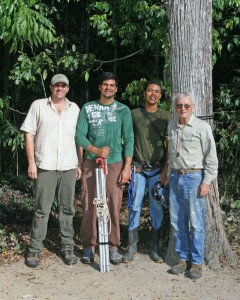 The Brazil nut team in Espiríto Santo. Left to right: Nate Smith, Anderson Aves Araújo, Michel Ribeiro, and Scott Mori.