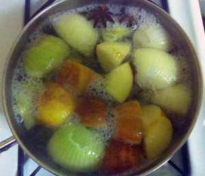 Simmering tea