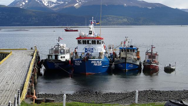 2014's expedition ship, the Dona Pilar, at dock