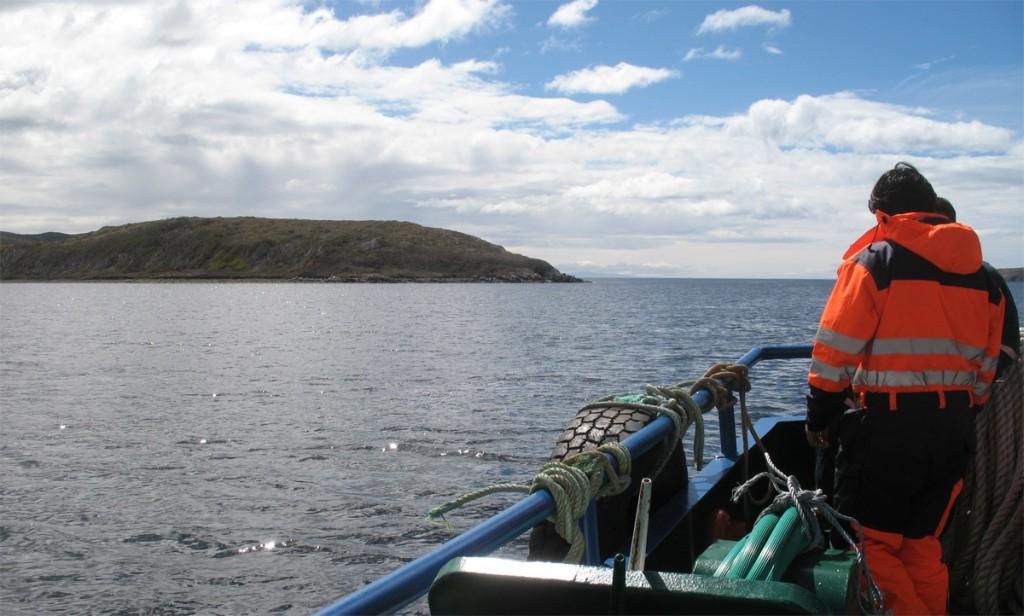 At sea near Hardy Peninsula