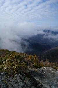 Near the summit of Hangover Mountain