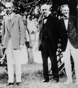 H. Ford, T. A. Edison, & H. S. Firestone (l.-r.), 1929