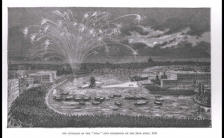 The Vega entering Stockholm in 1880
