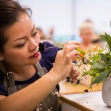 Photo of a Floral Design student at work