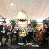 Photo of musicians at the Antique Garden Furniture Fair