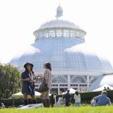 Conservatory dome with people in the front