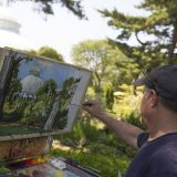Photo of a plein-air painter