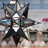 mirrored star and metal decor hanging object