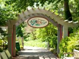 Entrance to Adventure Garden in the summer