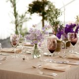 Table setting for a special occasion wedding. STARR