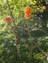 pumpkin stick men, halloween