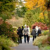 A group tour in the Perennial Garden during the fall.