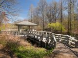Children's garden, gazebo, and small bridge