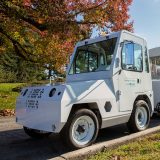 Image of electric truck pulling NYBG Trams