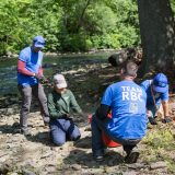 Volunteers working on the Bronx River