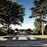 Visitor Center, VC, Reflecting Pool, summer