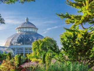 Photo Of The Haupt Conservatory From The Perennial Garden