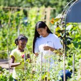 Photo of students in the Children's Gardening Program, ECAG