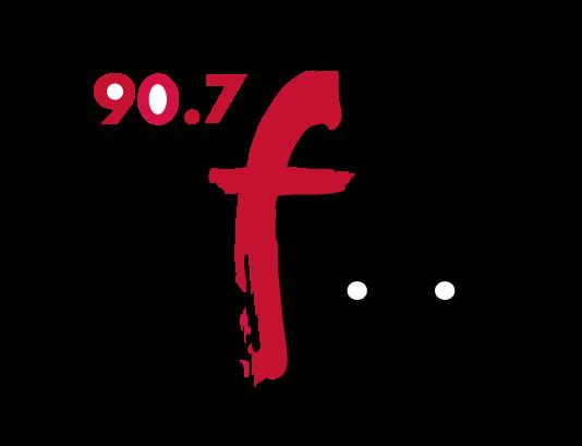 90.7 WFUV's logo.