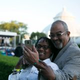 Photo of a couple at an NYBG summer concert